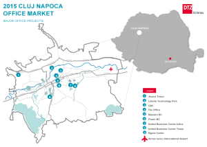 CLUJ NAPOCA office map according to DTZ 2015 report