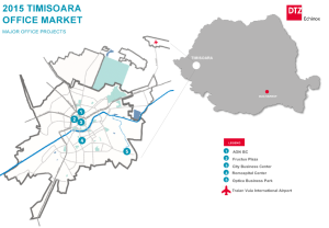 TIMISOARA office map according to DTZ 2015 report