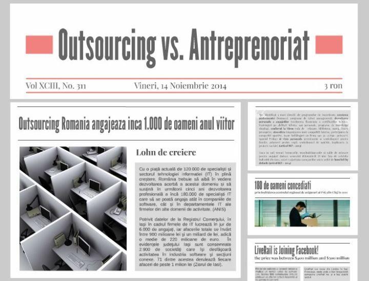 outsourcing vs. antreprenoriat