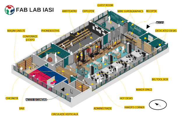 floor plan Fab Lab Iasi